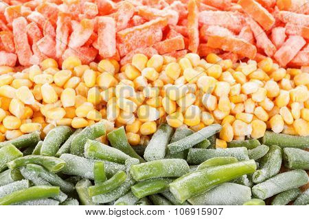 Mixed Frozen Vegetables In The Assortment
