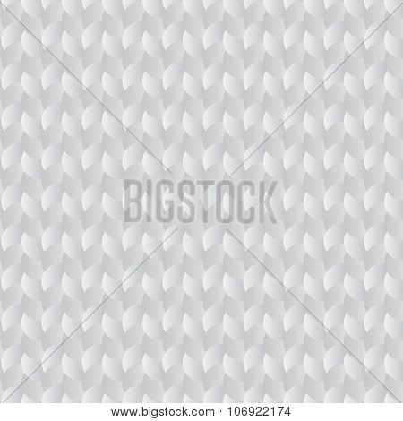 Seamless circles woven white vector pattern.