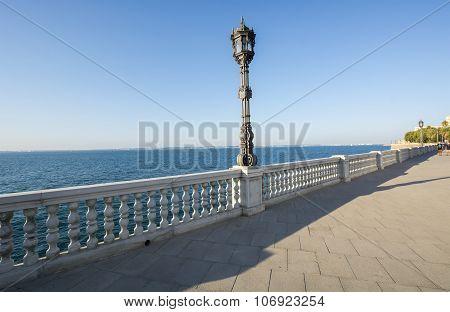 Beautiful Promenade Of Cadiz, Spain