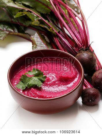 Food. Hummus out of beetroot