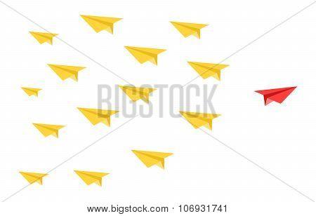 Disruptive Paper Plane Concept