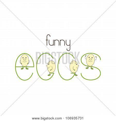 Funny Eggs Logo Template