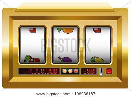 Slot Machine Blank Gold
