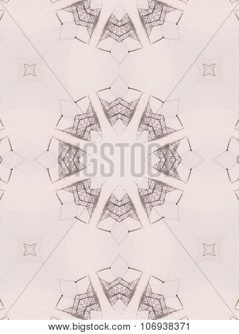 Pattern Of Kaleidoscope Abstract Grey Pattern