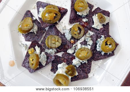 Fancy Blue Nachos