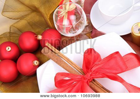 Christmas or New Year's setting