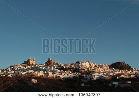 City Of Olvera at dawn