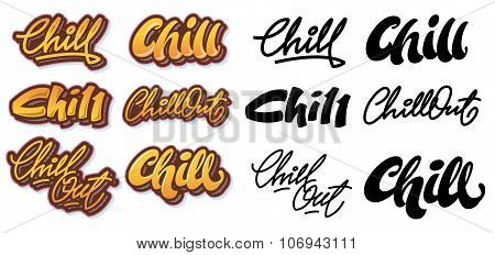 Chill lettering