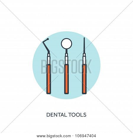 Vector illustration. Medical help.Flat web internet icon. Tooth. Dentistry.