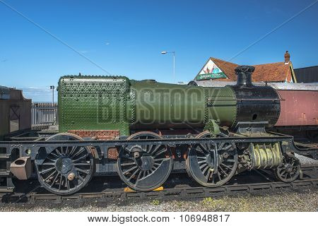 Old Locomotive, Minehead Railway Station, Cornwall, England