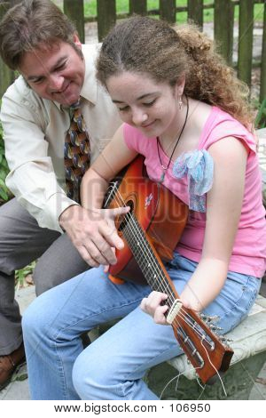 Father Daughter Guitar Lesson 1