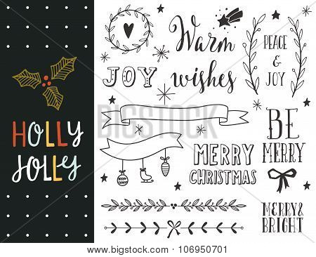 Hand Drawn Christmas Holiday Collection