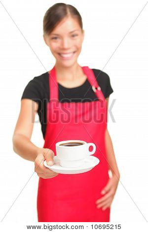 Coffee Serving Waitress