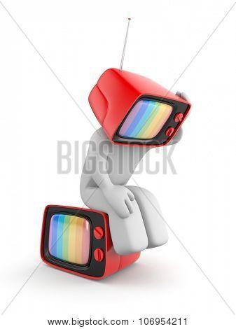 TV head with headaches