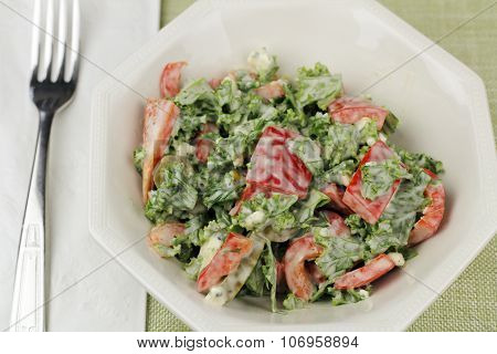 Kale And Red Pepper Salad