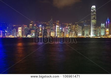 Victoria Harbor At Hong Kong