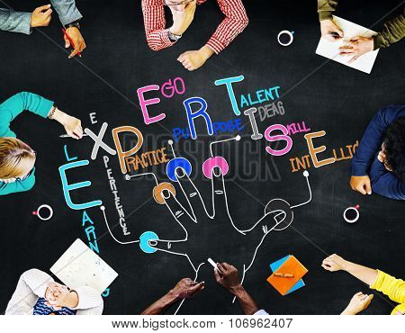 Expertise Learning Knowledge Skill Expert Concept