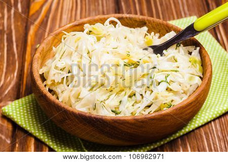 The cabbage salad