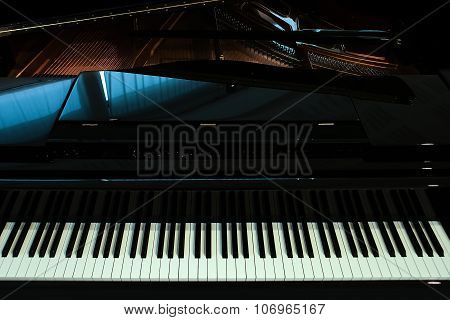 Black Piano Closeup