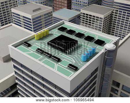 Roof Of A Skyscraper 8.