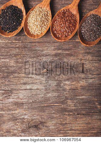 Chia, sesame, flax