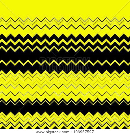 Zig Zag, Edgy Horizontal Lines Texture. Vector Image.