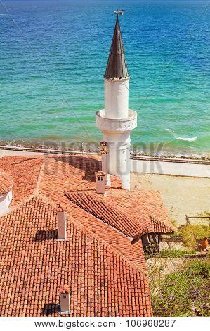 Minaret Against The Sea