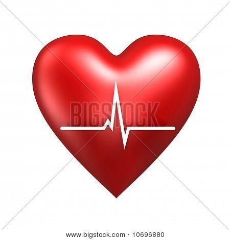 Corazón con cardiograma