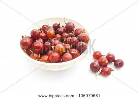 Tasty Gooseberries On A Dish