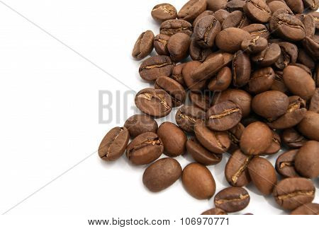 Flavored Coffee Beans On White