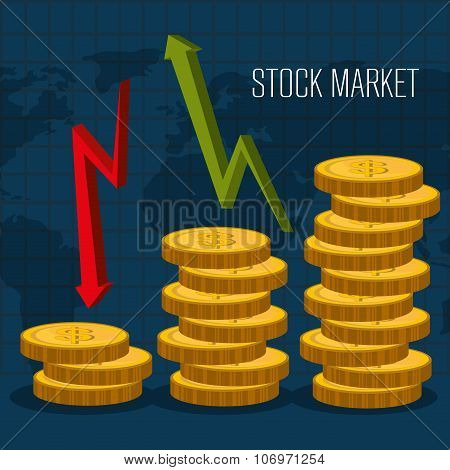 Stock market with statistics
