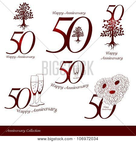 Anniversary 50th signs collection