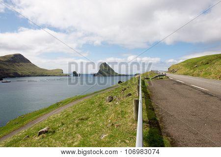 The Island Gasholmur On The Faroe Islands