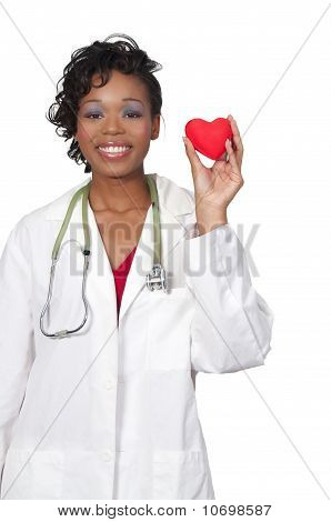 Woman Doctor Holding A Heart