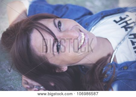 Confident Young Woman In Urban Surroundings