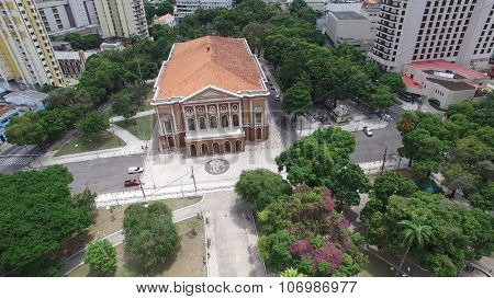BELEM DO PARA, BRAZIL - CIRCA NOVEMBER 2015: Aerial view of the Paz Theater in Belem do Para, Brazil