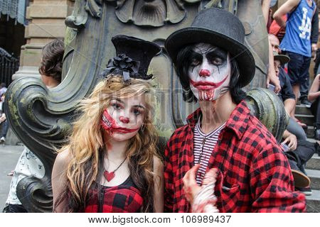 Couple Wounded In Zombie Walk Sao Paulo