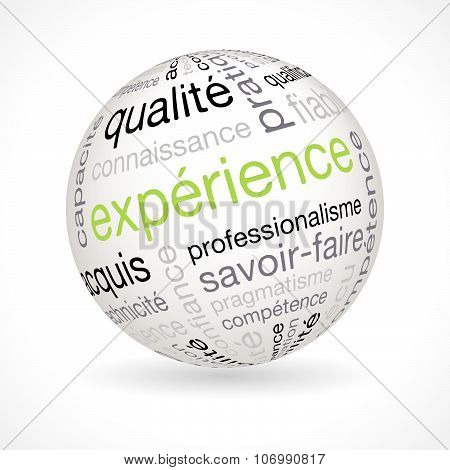 French Experience Theme Sphere With Keywords