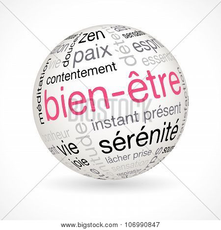 French Wellness Theme Sphere With Keywords