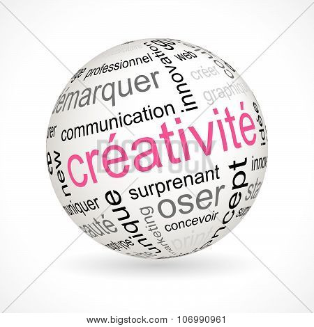 French Creativity Theme Sphere With Keywords
