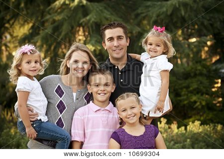 Beautiful Young Family Portrait