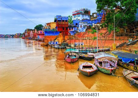 View Of Varanasi On River Ganges, India
