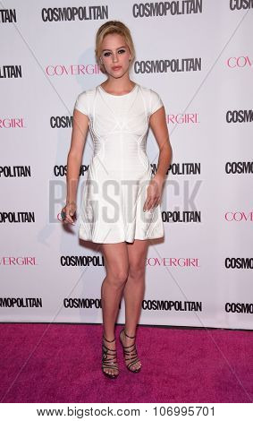 LOS ANGELES - OCT 13:  Gage Golightly arrives to the Cosmopolitan's 50th Birthday Party on October 13, 2015 in Hollywood, CA.