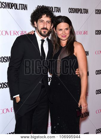 LOS ANGELES - OCT 13:  Katie Lowes & Adam Shapiro arrives to the Cosmopolitan's 50th Birthday Party on October 13, 2015 in Hollywood, CA.