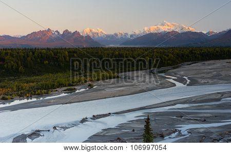 South View Mount Mckinley Range Denali National Park