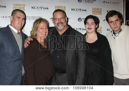 LOS ANGELES - NOV 2:  Eric Christiansen, family at the