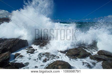 Flying Foam By The Shore