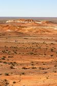 foto of bottomless  - desert near breakaways at coober pedy in australian outback - JPG