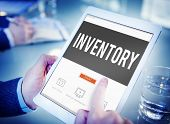 Постер, плакат: Inventory Manufacturing Logistic Reserves Concept