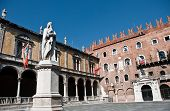 stock photo of alighieri  - Piazza dei Signori also known as Piazza Dante in Verona - JPG